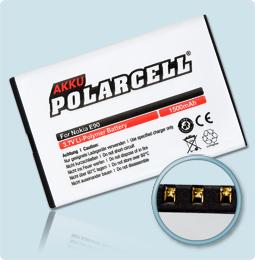 PolarCell® Hochleistungsakku für Nokia N810, ersetzt Originalakku BP-4L - BP-4C