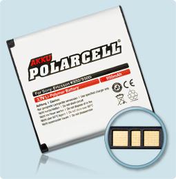 PolarCell® Hochleistungsakku für Sony-Ericsson W995, ersetzt Originalakku BST-38