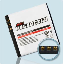 PolarCell® Hochleistungsakku für Nokia 7900, ersetzt Originalakku BL-6P