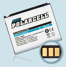 PolarCell® Hochleistungsakku für Samsung SGH-U700, ersetzt Originalakku AB553443CE