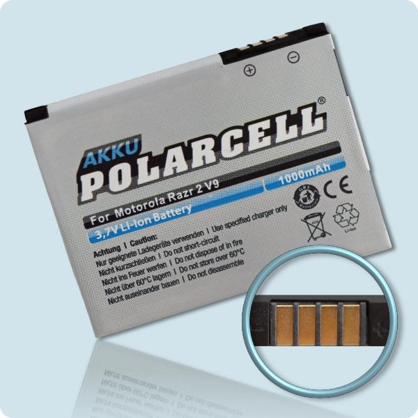 PolarCell® Hochleistungsakku für Motorola Zine ZN5, ersetzt Originalakku BX50