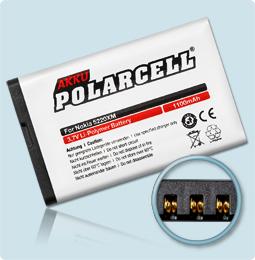 PolarCell® Hochleistungsakku für Nokia 5220, ersetzt Originalakku BL-5CT
