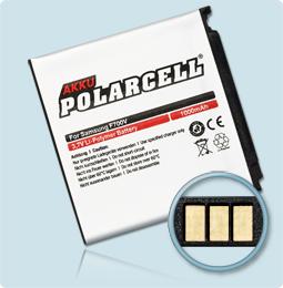 PolarCell® Hochleistungsakku für Samsung SGH-F490, ersetzt Originalakku AB563840CE