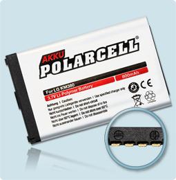 PolarCell® Hochleistungsakku für LG KS360, ersetzt Originalakku LGIP-330G