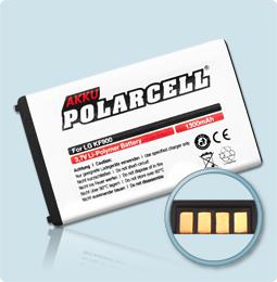 PolarCell® Hochleistungsakku für LG New Prada Phone KF900, ersetzt Originalakku LGIP-340N