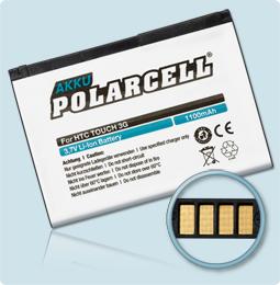PolarCell® Hochleistungsakku für XDA Guide, ersetzt Originalakku JADE160