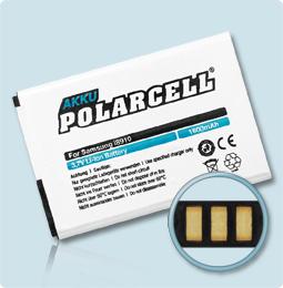 PolarCell® Hochleistungsakku für Samsung i8910 Omnia HD, ersetzt Originalakku  EB425161LU