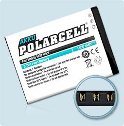 PolarCell® Hochleistungsakku für Nokia N97 mini, ersetzt Originalakku  BL-4D