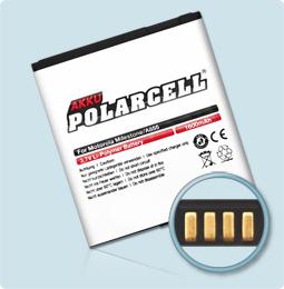 PolarCell® Hochleistungsakku für Motorola FIRE, ersetzt Originalakku BP6X - SNN5843A