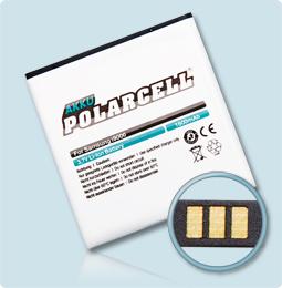 PolarCell® Hochleistungsakku für Samsung Galaxy S1 GT-i9000, ersetzt Originalakku  EB575152VU