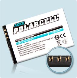 PolarCell® Hochleistungsakku für Nokia 5800, ersetzt Originalakku  BL-5J