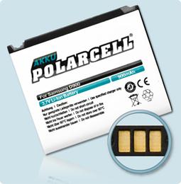 PolarCell® Hochleistungsakku für Samsung SGH-D900, ersetzt Originalakku AB503442CE