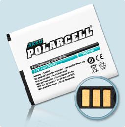 PolarCell® Hochleistungsakku für Samsung Galaxy J600, ersetzt Originalakku  AB533640BU