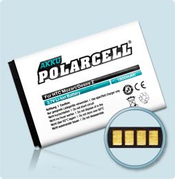 PolarCell® Hochleistungsakku für HTC A7272, ersetzt Originalakku BA S450 – S520
