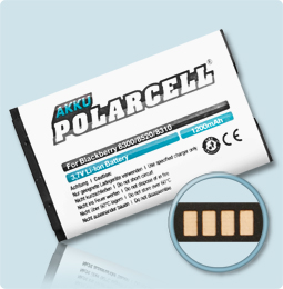PolarCell® Hochleistungsakku für Blackberry 8707, ersetzt Originalakku C-S2