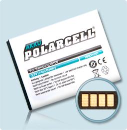 PolarCell® Hochleistungsakku für Samsung Galaxy S2 II GT-i9100, ersetzt Originalakku EB-F1A2GBU - EB-L1M8GVU