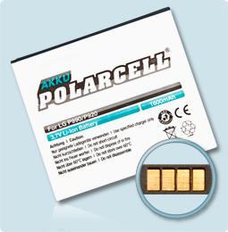 PolarCell® Hochleistungsakku für LG Optimus 3D P920, ersetzt Originalakku FL-53HN