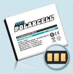 PolarCell® Hochleistungsakku für Samsung Galaxy 551 i5510, ersetzt Originalakku  EB494353VU