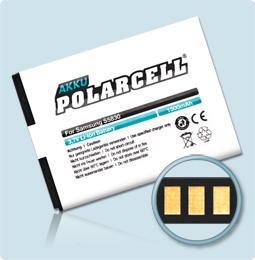 PolarCell® Hochleistungsakku für Samsung Galaxy Ace  S5830, ersetzt Originalakku EB494358VU