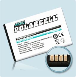 PolarCell® Hochleistungsakku für Motorola Milestone X, ersetzt Originalakku BH5X - SNN5865A