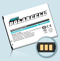 PolarCell® Hochleistungsakku für Samsung Galaxy Galaxy Note 2 II GT-N7100, ersetzt Originalakku EB595675LU
