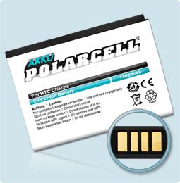 PolarCell® Hochleistungsakku für HTC ChaCha, ersetzt Originalakku BA-S570