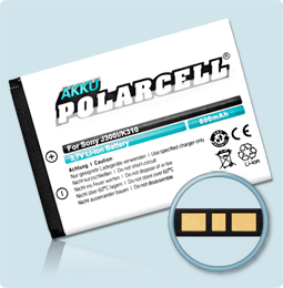 PolarCell® Hochleistungsakku für Sony-Ericsson J300i, ersetzt Originalakku BST-36