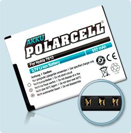 PolarCell® Hochleistungsakku für Nokia 7610 Supernova, ersetzt Originalakku BL-4S