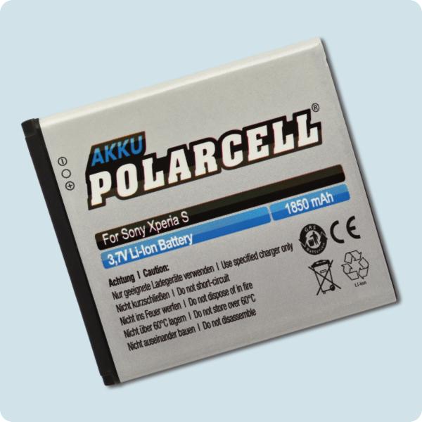 PolarCell® Hochleistungsakku für Sony-Ericsson Xperia S, ersetzt Originalakku  BA800