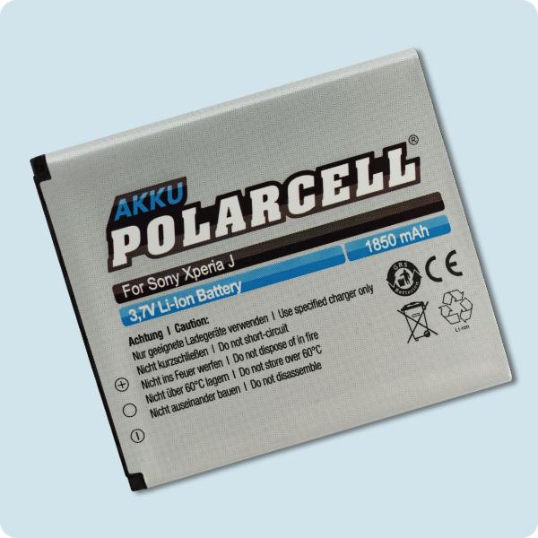 PolarCell® Hochleistungsakku für Sony Xperia TX, ersetzt Originalakku BA900