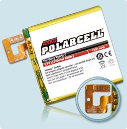 PolarCell® Hochleistungsakku für Sony Xperia T, ersetzt Originalakku LIS1499ERPC