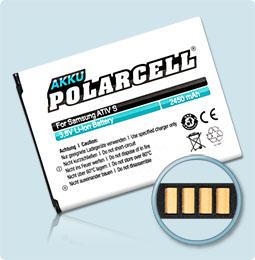 PolarCell® Hochleistungsakku für Samsung ATIV S GT-i8750, ersetzt Originalakku EB-L1M1NLU
