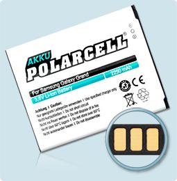 PolarCell® Hochleistungsakku für Samsung Galaxy Grand GT-i9080, ersetzt Originalakku  EB535163LU