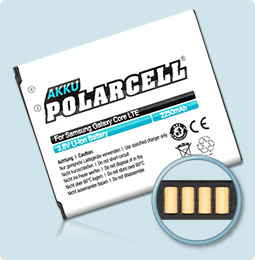 PolarCell® Hochleistungsakku für Samsung SM-G386F (inkl. NFC-Antenne), ersetzt Originalakku EB-L1L7LLU