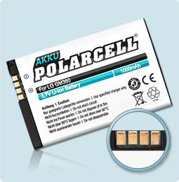 PolarCell® Hochleistungsakku für LG C300, ersetzt Originalakku LGIP-430N