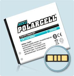 PolarCell® Hochleistungsakku für HTC Desire 510, ersetzt Originalakku BA S930 - BM65100
