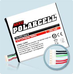 PolarCell® Hochleistungsakku für HTC One X, ersetzt Originalakku BJ83100