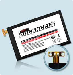 PolarCell® Hochleistungsakku für Motorola RAZR MAXX, ersetzt Originalakku EB40