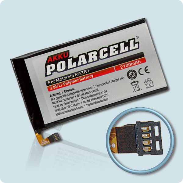 PolarCell Hochleistungs-Akku ersetzt Originalakku Motorola EG30 - SNN5916A