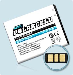PolarCell® Hochleistungsakku für HTC Desire 310, ersetzt Originalakku B0PA2100
