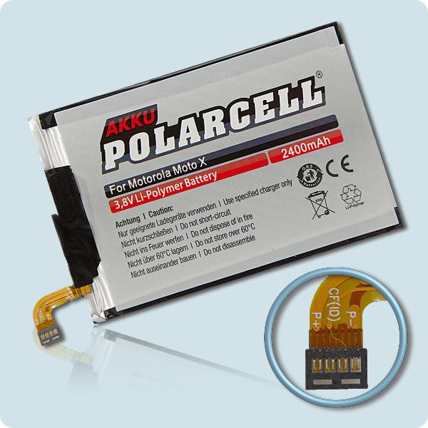 PolarCell® Hochleistungsakku für Motorola MOTO X 2nd, ersetzt Originalakku  EY30 - SNN5945A