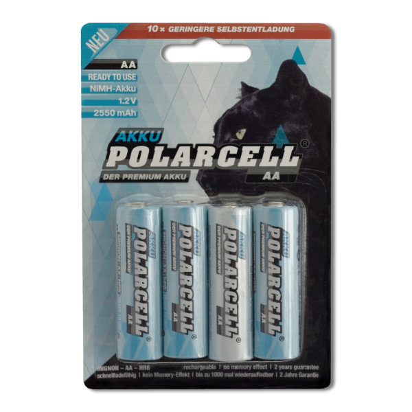 PolarCell Ready to Use Mignon AA Premium Ni-MH Akku [4er-Blister]